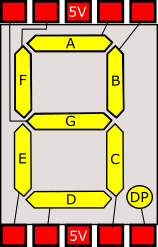 graphical diagram of a 7 segment device wiring