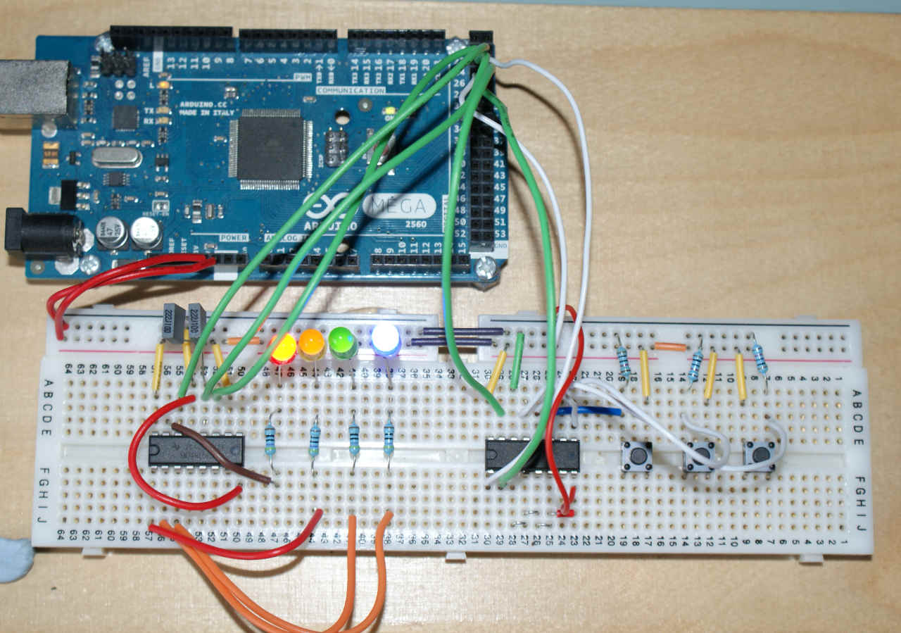 Io Abstraction The Same Code For Pins Shift Registers And I2c Register Breadboard Circuit Example Using Two Input Output