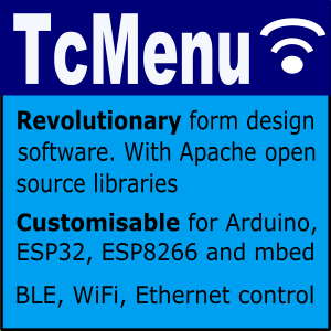 tcMenu for Arduino